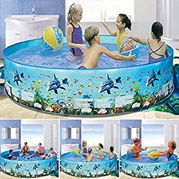 Yionloe Home Outdoor Round Portable Playing Water Pool