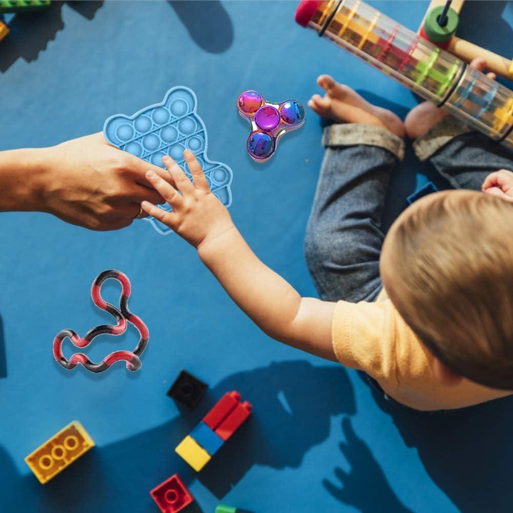 Shrilling Chicken Toy Ysimee Fidget Toy Set 23//30 Packs Tangle Fidget zur Linderung von Angstzust/änden f/ür Kinder und Erwachsene Squeeze a Bean Antistress Spielzeug mit Pop it Stressballs