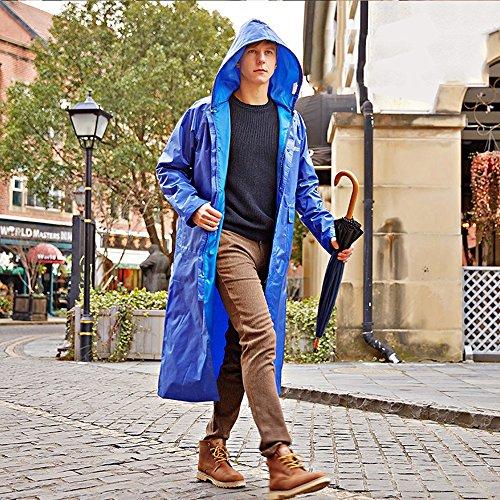 Huifang Vêtements de pluie QFFL Poncho Long Trench Coat Imperméable Adulte Randonnée Imperméable Imperméable 5 Couleurs Taille Optionnelle en Option imperméable (Couleur : E, Taille : XL)