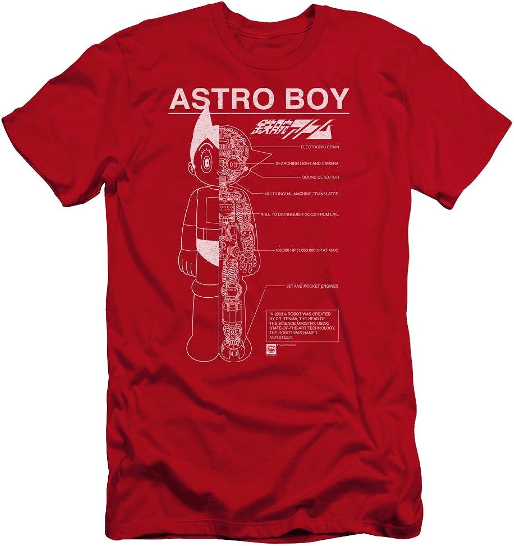 huge discount 81ec0 95215 Astro Boy - Mens Schematics Premium Slim Fit Fit Fit T-Shirt 956b16