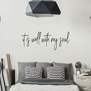 Religious Wall Decor - It Is Well With My Soul - Christian Vinyl Decal for Home Or Church Decoration