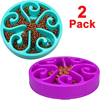 wangstar Pet Slow Feeder Bowl, Bloat Stop Dog Puzzle Bowl Maze, Interactive Fun Feeder Slow Bowl with Anti-Skid Design