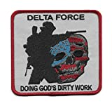Delta Force - Doing God's Dirty Work Morale Military Patch by USMilitaryPatch