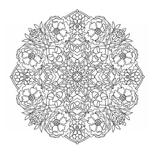 『flower mandalas 心を整える、花々のマンダラぬりえ』の14枚目の画像