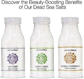 Dead Sea Bath Salt Bundle by Just Minerals - Lavender - Lemon Grass - Vanilla Patchouli - Just Minerals Certified 100% Pur...