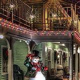 LED Lichterkette, Queta Lichtkette mit Fernbedienung Outdoor Weihnachtslichterkette Batteriebetrieben, explodierendes Feuerwerk, Warmweiß (180 Lichter) - 4