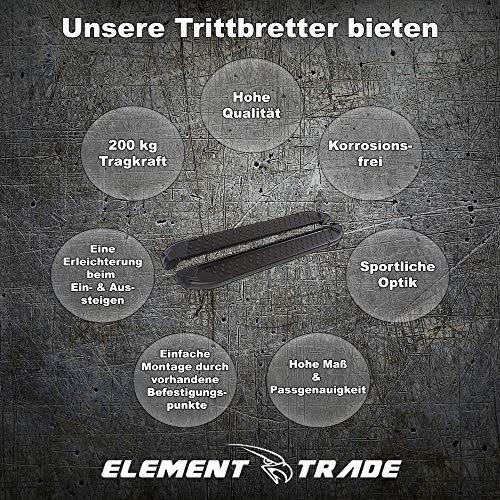 Element Trade Trittbrett Seitenschweller passend für Renegade Aluminium | ab Bj. 2014 | V3-Edition | Black Edition