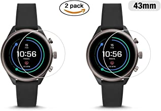 M.G.R.J® Tempered Glass Screen Protector for Fossil Sport Smartwatch 43mm (Pack of 2)