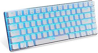 Ajazz AK33 Mechanical keyboard 82 Keys USB Wired Gaming Keyboard with Backligh for Tablet Desktop Computer (Blue Backlit B...