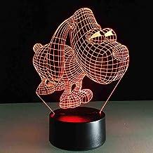 RJGOPL 3D Led Visual Creative Big Eye Dog Modelling USB Night Light Cartoon Desk Lamp voor Kerstmis Decorations Home Decor...