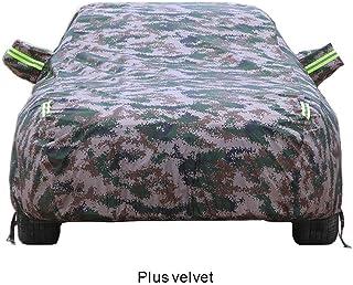 車のカバー、フォルクスワーゲンLaVida Sagitar Magotan BoraフォルクスワーゲンPOLO Passat Jeddah Santana防水凍結防止盗難防止盗難防止パスワードロック厚手のコットンカー保護カバー (Color : Plus velvet camouflage)