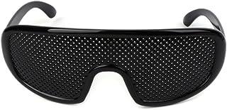 TENGGO Mejorar La Visión Negro Cuidado Pinhole Gafas Ojo