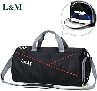2d98d60d3694d7 Sports Gym Bag with Shoes Compartment and Wet Pocket, Travel Duffel Bag Gym  Holdall Bag