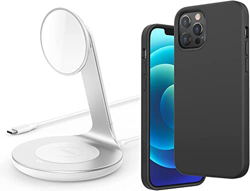 wholesale Anker iPhone 12 Pro Max Magnetic Silicone Case, 6.7 Inches 2021 (Dark online sale Gray) & Anker Wireless Charger outlet online sale