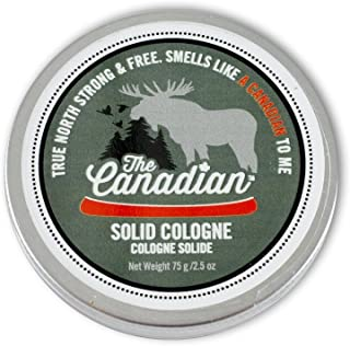 Walton Wood Farm Solid Cologne (The Canadian) Maple Bark & Wild Portage Scent Vegetarian Friendly, and Paraben-Free 2.5 oz