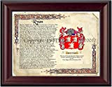 DRFdesign Ryan Coat of Arms/Family Crest on Fine Paper and Family History
