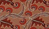 Stoffbook BRAUN Reine Baumwolle Ornament Muster