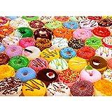 Puzzle de 1000 piezas Jigsaw para adultos, 1000 piezas de donuts coloridos, deliciosos donuts, comida de donut imposible rompecabezas para adultos, juego de habilidad para toda la familia