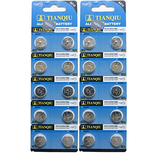 AG12 386A LR43 L1142 RW84 Button Cell Batteries [20-Pack]