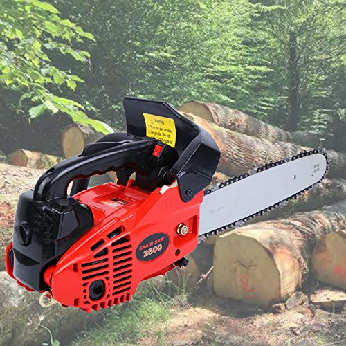 Ridgeyard Petrol Chain Saw Cutting Wood Gas-Powered Chainsaw 25CC 2-Stroke Single Cylinder Light Weight Chain Saw