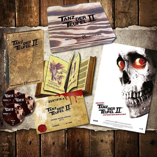 Preisvergleich Produktbild Tanz der Teufel 2 - Limited 3-Disc Extended Wood Edition Uncut inkl. Mediabook + Zertifikat + Poster (DVD +2x Blu-ray Disc)