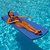 Texas Recreation Sunsation 1.75' Thick Swimming Pool Foam Pool Floating Mattress, Bahama Blue