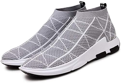 Hhor paniers pour Hommes, Nouvelles Chaussures de Sport d'été, Chaussures Chaussures Chaussures de Course tissées européennes et américaines Tide Fly, Chaussures de marée, gris, 45 022