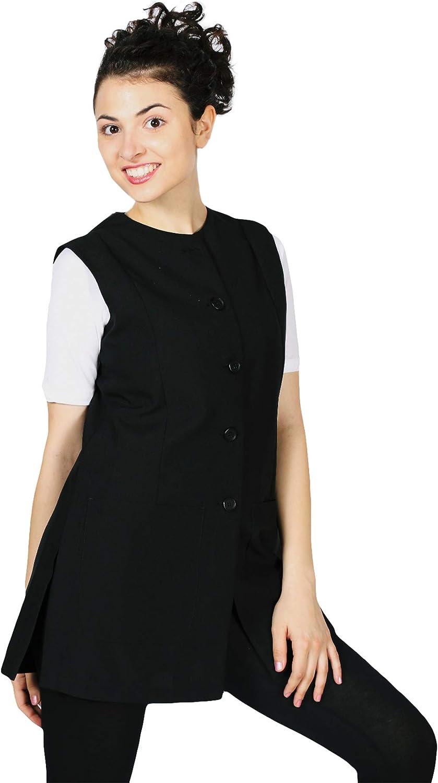 Smockers Linda Professional 超激安 Salon ブランド激安セール会場 Vest Cosmetolo Stylist Smock