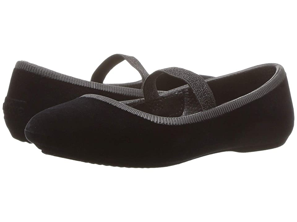 Native Kids Shoes Margot Velvet (Toddler/Little Kid) (Jiffy Black) Girls Shoes