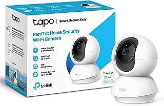 TP-Link Tapo Pan/Tilt Smart Security Camera, Indoor CCTV, 360° Rotational Views, Works with Alexa&Google Home, No Hub Requ...