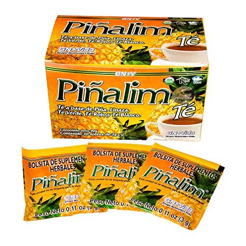 SmileMore Pinalim Tea/Te de Pinalim Mexican Version- Pineapple, Flax, Green Tea, White Tea - 30 Day Supply - PACK OF 1