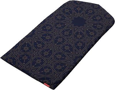 Visual Dhikr Midnight Arabesque Arch-Shaped Prayer mat Rug