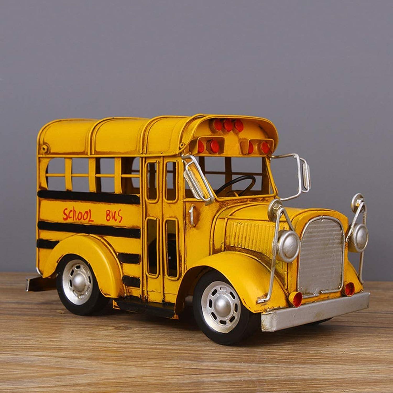 Envio gratis en todas las ordenes LJJOO Modelo De De De Coche De Hierro, Decoración De Autobús Escolar Retro, Accesorios De Fotografía, Adornos De Hierro Forjado Decoración del Hogar  precioso