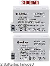 Kastar Battery (2-Pack) for Canon LP-E8, LC-E8E Work with Canon EOS 550D, EOS 600D, EOS 650D, EOS 700D, EOS Rebel T2i, EOS Rebel T3i, EOS Rebel T4i, EOS Rebel T5i Cameras and BG-E8 Grip