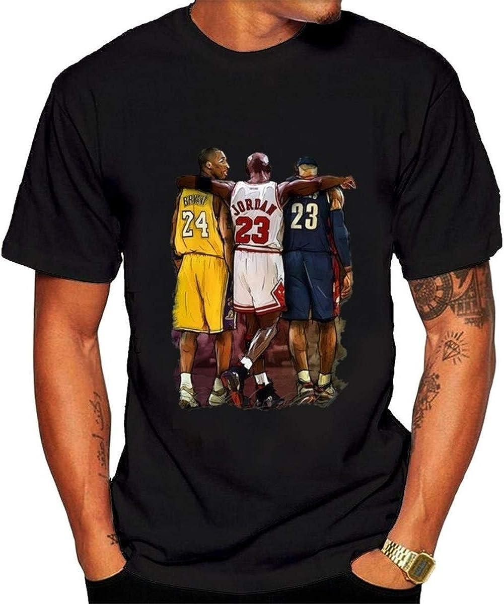 Camiseta de manga corta para hombre de la NBA Lebron James Kobe Bryant Michael Jordan Tee Mujeres Hiphop Shirts
