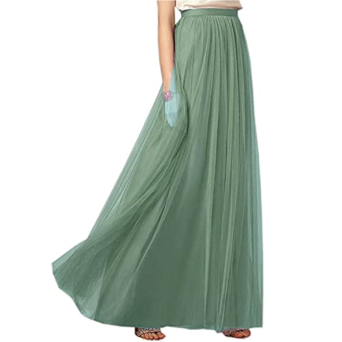 c4b9004496 Clearbridal Women's 50s Vintage Tulle Petticoat Dress A Line Mixi Long Prom  Party Tutu Skirt 12024