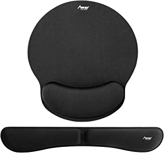 Mouse Pad, MAD GIGA Memory Foam Non Slip Mouse Pad and Keyboard Wrist Rest Support for Office, Computer, Laptop & Mac with Free Cleaning