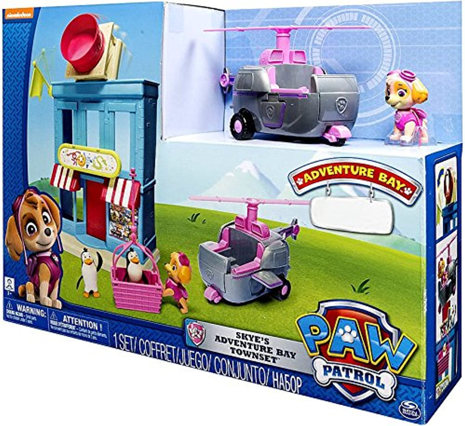 Paw Patrol Skye's Helicopter and Townset
