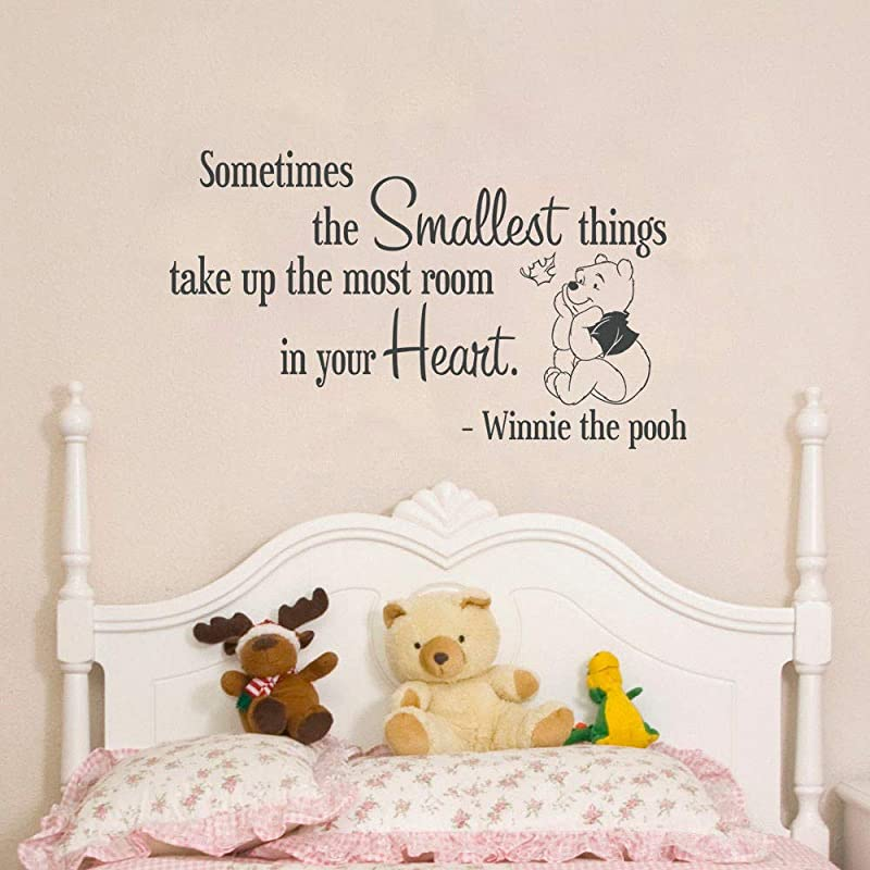Vinyl Wall Art Inspirational Quotes And Saying Home Decor Decal Sticker Sometimes The Smallest Things Take Up The Most Room In Your Heart For Nursery Kids Room