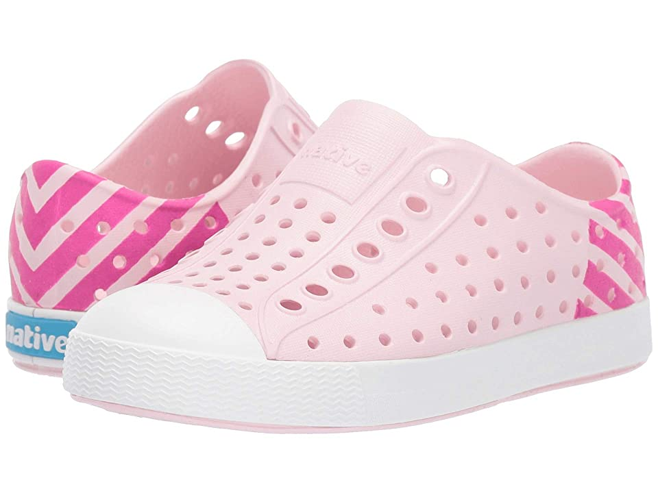 Native Kids Shoes Jefferson Block (Toddler/Little Kid) (Blossom Pink/Shell White/Festival Pink Glow Block) Girls Shoes