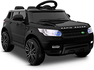 Rigo Kids Ride On Car Range Rover Sport Coupe Electric Vehicle Toys Power Battery Remote Control Black 12V