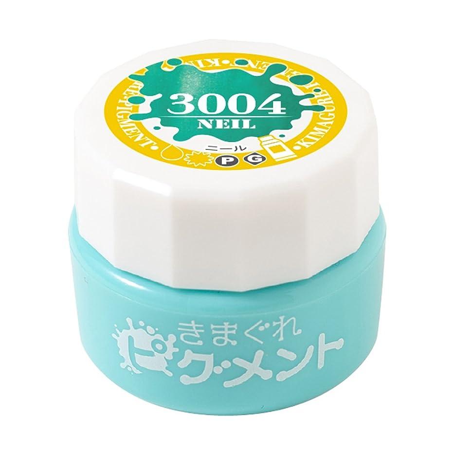 かび臭いいわゆる傾斜Bettygel きまぐれピグメント ニール QYJ-3004 4g UV/LED対応