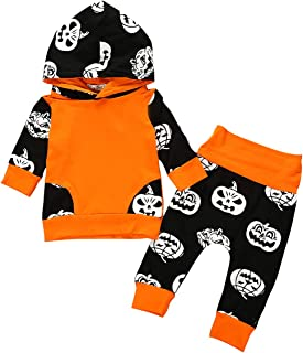 Baby Outfits Set Pumpkin Hoodie Kids Long Sleeve Tops Blouse + Pant 2Pcs Halloween Autumn Winter Clothes Set