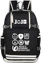 Gumstyle JoJo's Bizarre Adventure Anime Night Luminous Backpack with USB Charging Port Laptop Shoulder School Bag