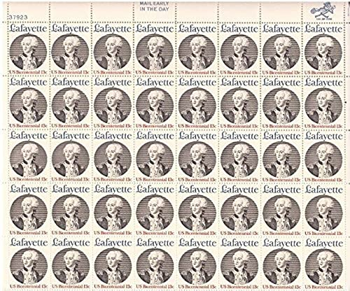 descuento de bajo precio US US US Stamp - 1977 Marquis de Lafayette - 40 Stamp Sheet - F VF MNH  1716 by USPS  promociones