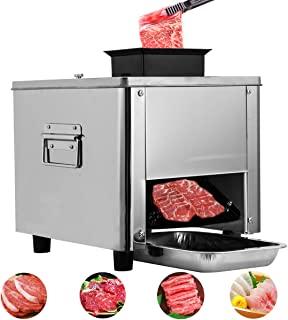 APWONE Electric Meat Slicer, Commercial Meat Cutter Stainless Steel 3MM Blade for Electric Deli Beef Food Slicer
