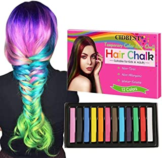 Hair Chalk, Temporary Hair Chalk Pens, Hair Chalk Set, Washable Hair Color,Non-toxic Washable Hair Dye, for Kids Hair Dyeing Party, Cosplay - 12 Color