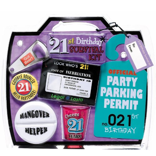 Amscan 21st Birthday Survival Kit