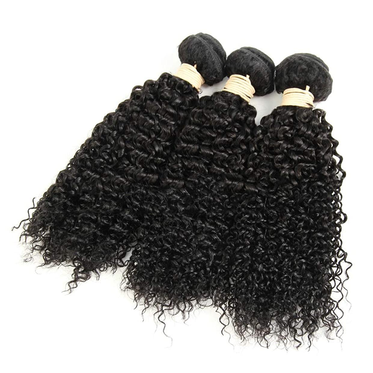 突破口納屋ステージMayalina ブラジルのバージン変態カーリーヘアバンドル人毛エクステンション横糸 - #1Bナチュラルブラックカラー、8