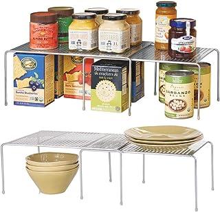 mDesign étagère de Cuisine (Lot de 2) – Rangement de Cuisine en métal pour Placard ou Plan de Travail – étagère de Rangeme...